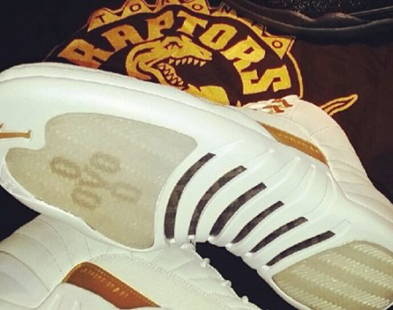 Drake Gives Air Jordan 12 OVO PEs to Amir Johnson