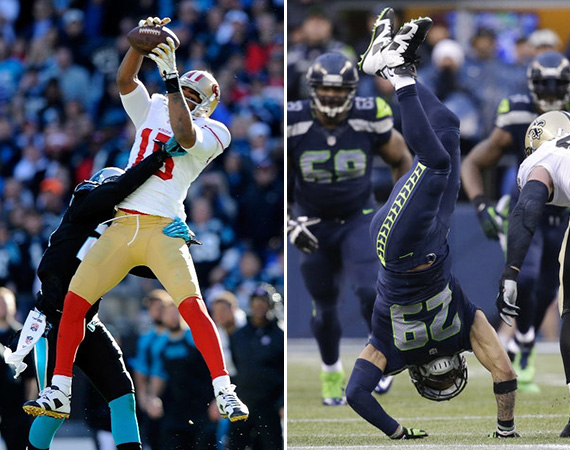 Michael Crabtree and Earl Thomas Showcase Air Jordan 6 Retro Cleats