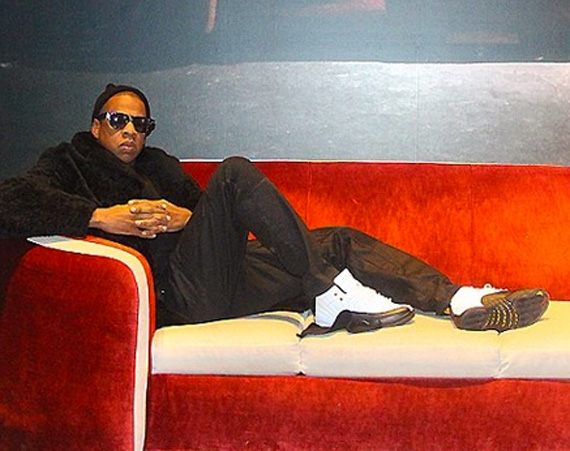 Jay Z Poses as Andy Warhol in Air Jordan 12 Taxi
