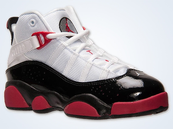 Jordan 6 Rings GS: White   Legion Red   Black   Wolf Grey