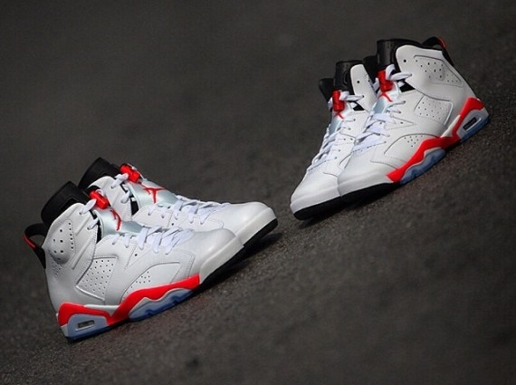 Air Jordan 6 Retro: Infrared   Arriving in Mens and GS Sizes