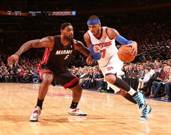 b5195faeaea Undefeated in the Jordan Melo M10? Almost. Carmelo Anthony and the Knicks  would normally shrug off a three game winning streak, but since switching  over to ...