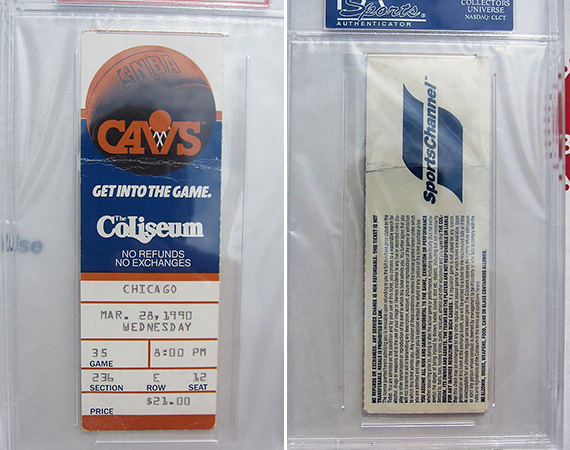 Vintage Gear: Ticket Stub of Michael Jordans 69 Point Game