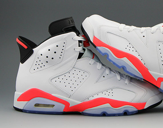 Air Jordan 6 Retro: White   Infrared   Black