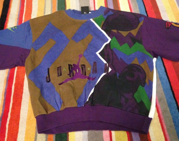 Vintage Gear: Air Jordan VII Cut & Sew Sweatshirt