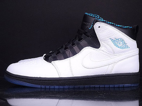 Air Jordan 1 Retro '94. Color: White/Black-Dark Powder Blue Style Code:  631733-106. Release Date: 02/08/14. Price: $130