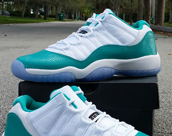 Air Jordan 11 Low GS: Aqua   Release Date