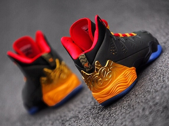 """4bf3cf7c9461 The Jordan Melo M10 released over the weekend in the special edition """"Year  of the Horse"""" colorway"""