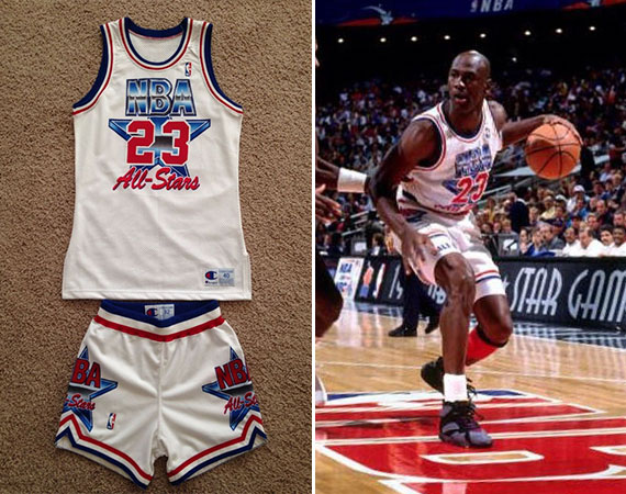 Vintage Gear: Authentic Michael Jordan 1992 NBA All Star Game Uniform Set