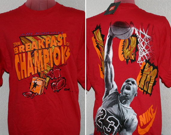Vintage Gear: Breakfast of Champions Jordan x Wheaties T Shirt