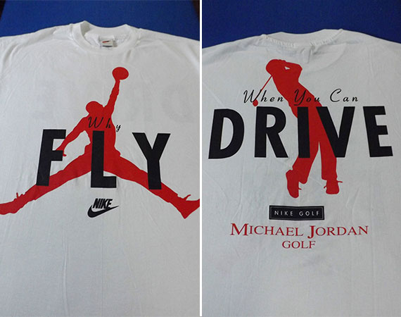 Vintage Gear: Why Fly When You Can Drive Nike Golf T Shirt