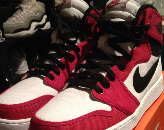 Air Jordan 1 Retro KO High: White   Black   Gym Red