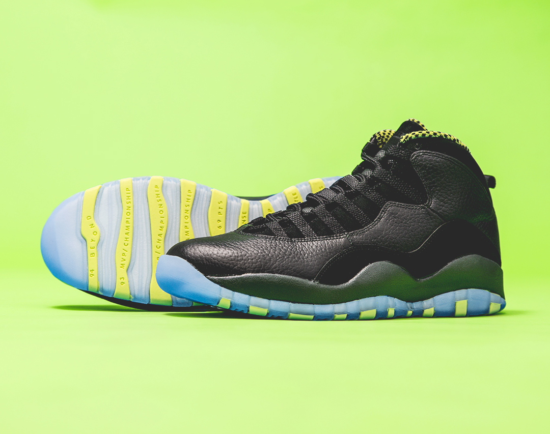 "Air Jordan 10 Retro: ""Venom Green"" - Release Reminder ..."