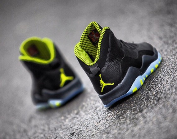 86f4565732e ... reduced air jordan 10 venom green color black cool grey anthracite venom  green style code 310805