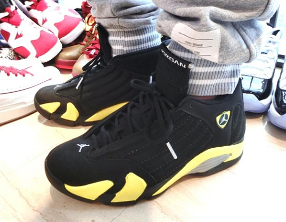 Air Jordan 14: Thunder   On Feet Preview