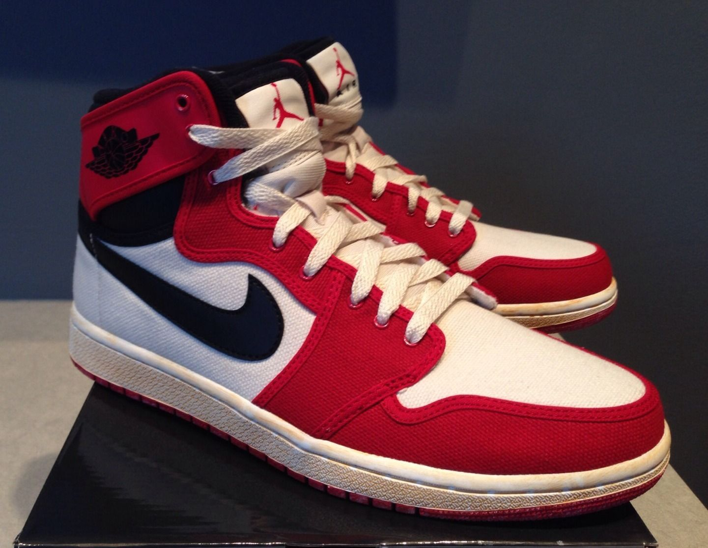 """low priced 08fb9 8e4dd Earlier today we got a preview of the upcoming Air Jordan 1 AJKO that will  hit retailers mid-month in that classic """"Red Toe"""" look."""