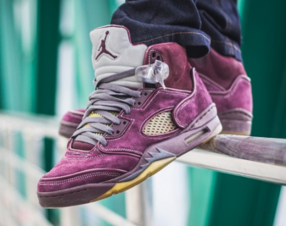 Air Jordan 5: Violet Customs by Maggi