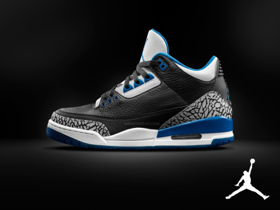 Air Jordan 3 Retro: Sport Blue for Fall 2014