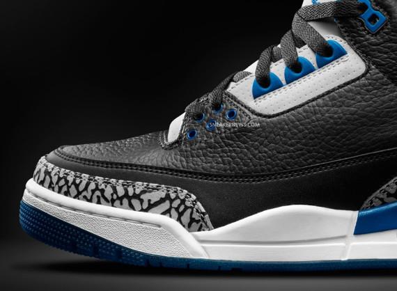 Air Jordan 3 Black And Blue