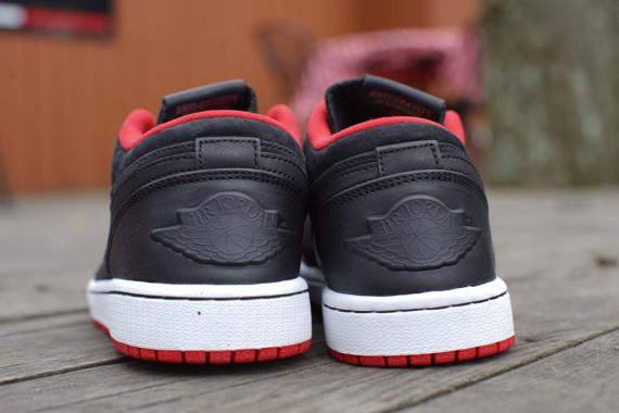 Air Jordan 1 Bajo Nouveau Negro / Gimnasio Rojo / Blanco u0I1Sb3ow