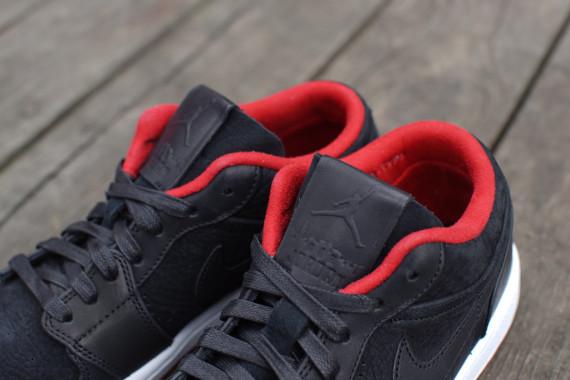 Air Jordan 1 Bajo Nouveau Negro / Gimnasio Rojo / Blanco WVcEXxlr