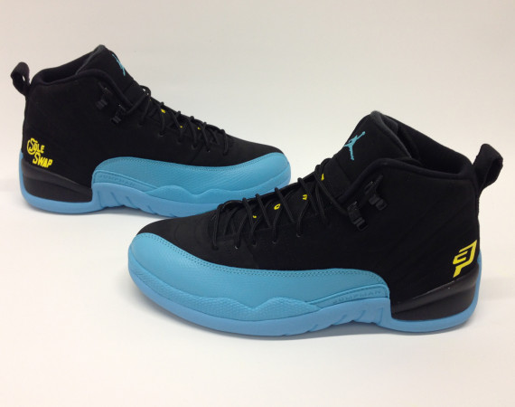 Air Jordan 12: New Orleans Hornets Chris Paul Customs by Soleswap