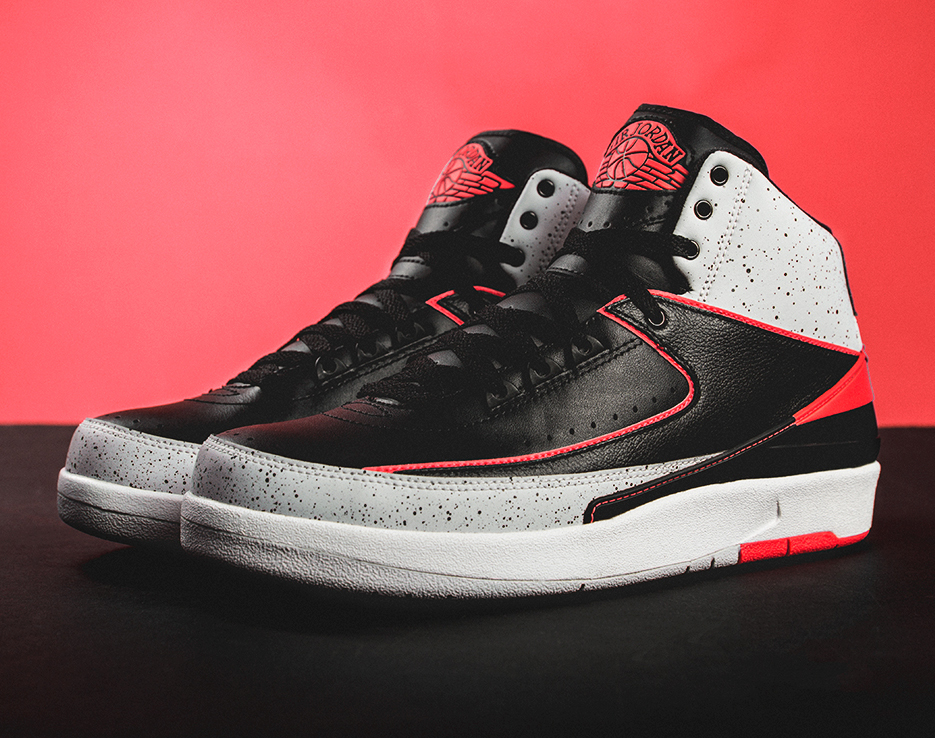 "best cheap a89d0 1bf61 The Air Jordan 2 ""Infrared 23"" is a sneaker that draws multiple  inspirations from popular Retro Jordan releases, mainly the Air Jordan 4 s  clean cement ..."