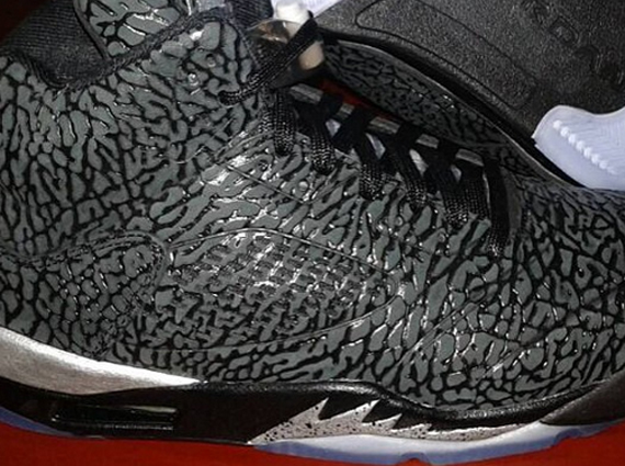 Air Jordan 3Lab5: Black   Metallic Silver