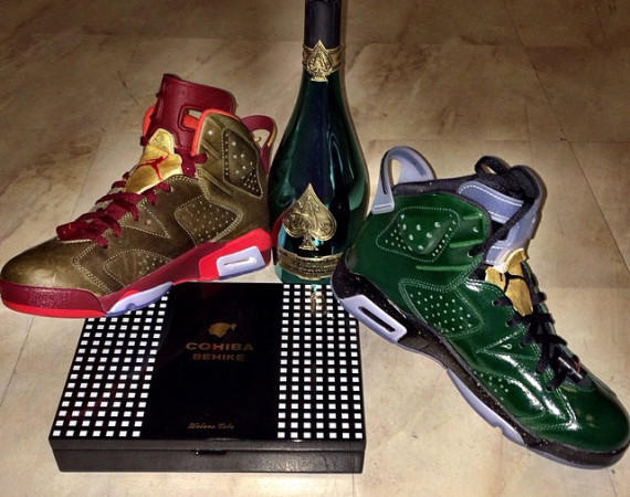 Fabolous Showcases Air Jordan 6 Champagne & Cigar