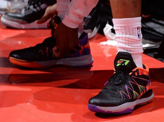 Jordan CP3.VII AE: Black   Hyper Green   Laser Crimson   Purple