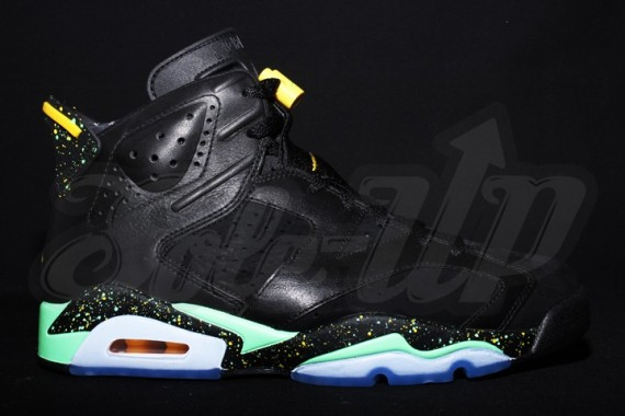 Air Jordan 6: Black   Green   Yellow