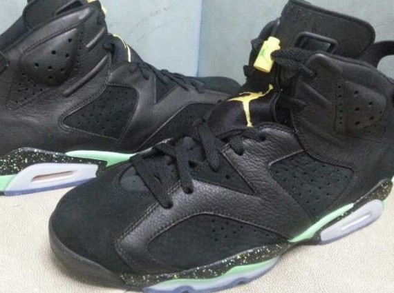Air Jordan 6: Black  Venom Green