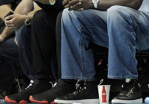 Michael and Marcus Jordan Showcase Air Jordans During Game 4