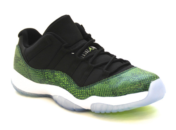Air Jordan 11 Low: Green Snake   Arriving at Retailers