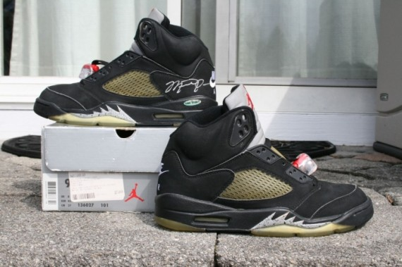 Air Jordan 5: Metallic   1999 Retro Pair Autographed by Michael Jordan