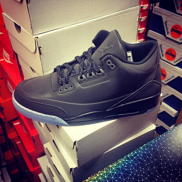 low priced 836d5 b215b The first look at the Air Jordan 5Lab3 in the upcoming Black Black-Clear  aesthetic is finally here. The shoe features a matte black upper that s  sure to ...
