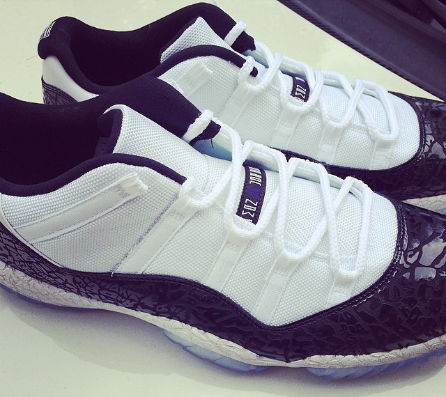 where to buy chi mcbride shows off air jordan 11 low concord laser air  jordans release 65c76f846acd