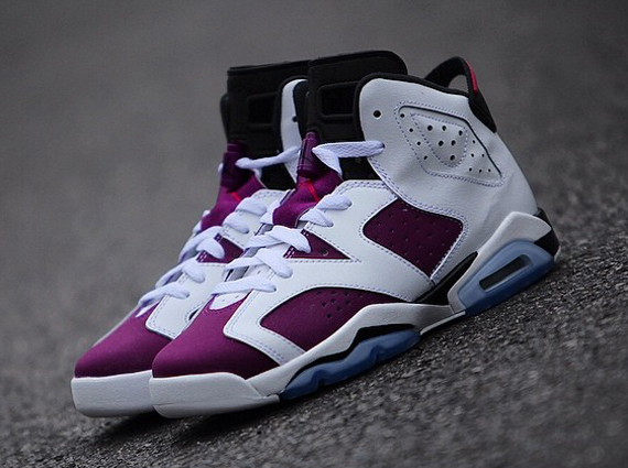 quality design 9c279 5adea ... Air Jordan 6 GS White – Vivid Pink – Bright Grape – Black Release Date  ...