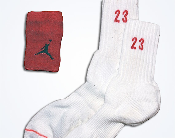 Michael Jordans Game Used Socks & Wristband from 1991 Up for Auction