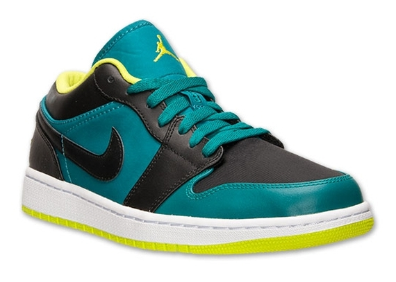 Air Jordan 1 Low: Lush Teal   Venom Green   Black