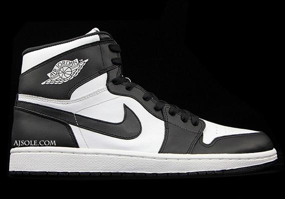 air jordan 1 white and black