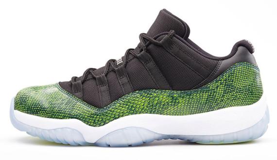 best sneakers c8883 487dc ... spain air jordan 11 low color white turbo green volt ice black style  code 580521 143
