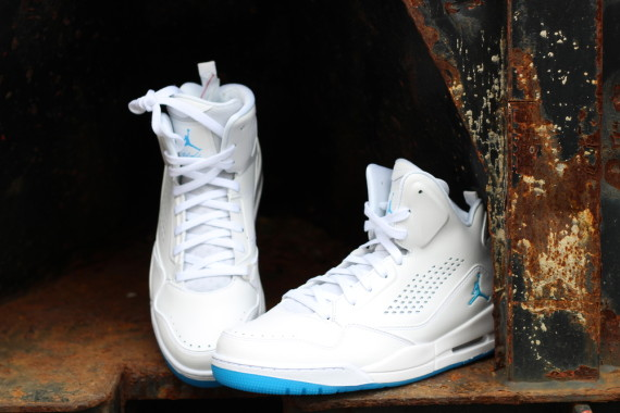Jordan Flight 45 High: White - Carolina Blue