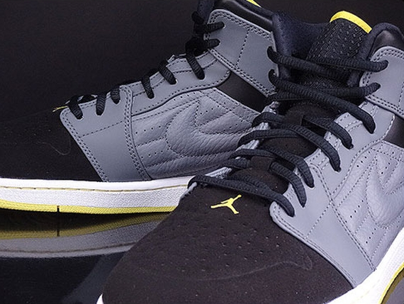 air jordan retro 1 yellow grey