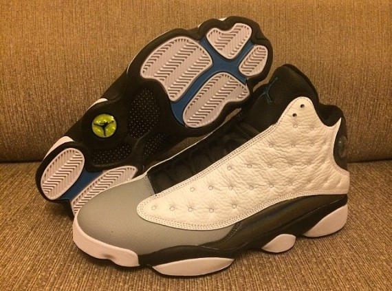 air jordan 13 black white grey