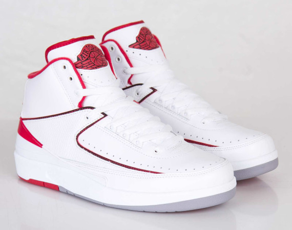 Air Jordan 2 Retro: White   Varsity Red   Release Reminder