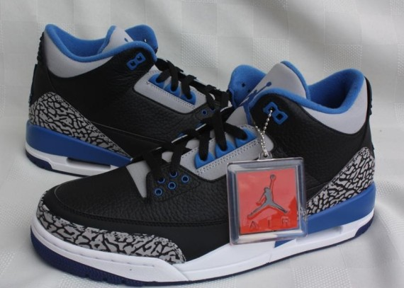 93ca99b19e57 ... real air jordan 3 retro color black sport blue wolf grey style code  136064 007.