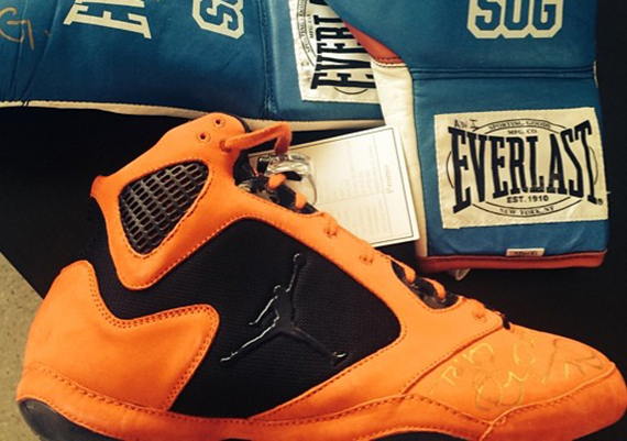 Jordan Athlete Andre Ward Gets Air Jordan 5 Inspired Boxing Shoe