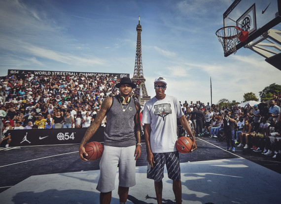 Carmelo Anthony and Scottie Pippen Appear at World Streetball Championship
