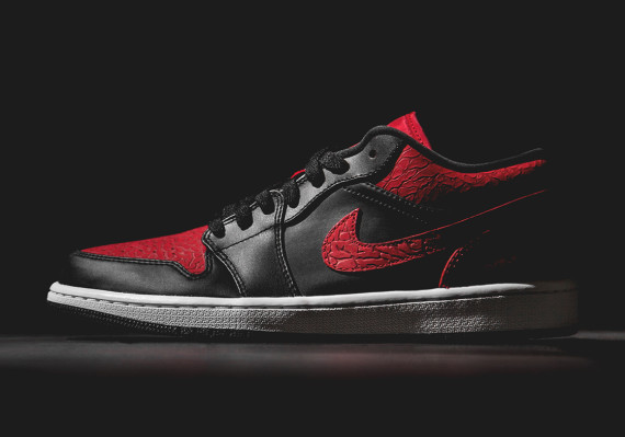 Air Jordan 1 Low: Black   Red Elephant Print   Available